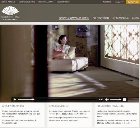 Le nouveau site de Mandarin Oriental est disponible en 7 langues différentes - Capture d'écran