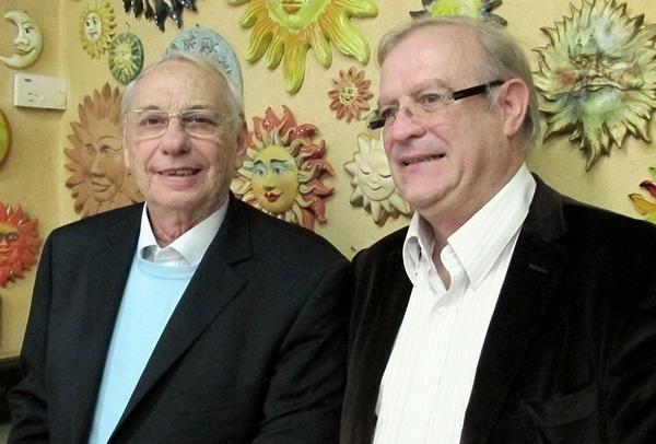 Le président Jean Korcia et son vice-président et vieux complice Francis Gallo /photo JDL