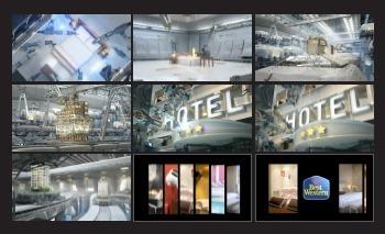 """Le spot TV de Best Western met en scène une """"usine à hôtels"""" - DR"""