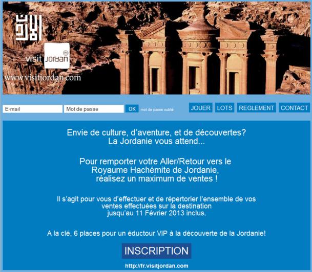 Le challenge de ventes Jordanie se déroulera jusqu'au 11 février 2013