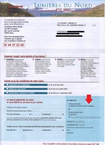 Les bulletins d'inscription et les bons de commande des croisières Notre Temps sont édités sous le nom de NDS Voyages (Cliquer pour zoomer) - DR