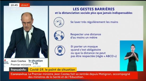 Jean Castex le Premier Ministre a tenu une conférence de presse pour faire le point sur l'épidémie de coronavirus - DR