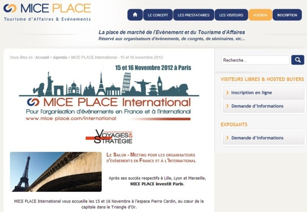 150 exposants en provenance de 70 pays étaient présents à la 1e édition du MICE Place International - Capture d'écran