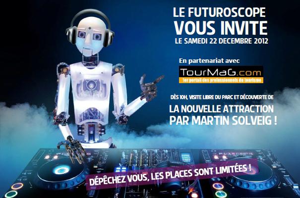 Danse avec les Robots, la nouvelle attraction par Martin Solveig à découvrir le 22 décembre 2012 en avant-première. DR