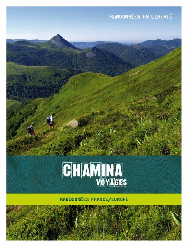La nouvelle brochure et le nouveau logo de Chamina. Le spécialiste de la randonnée espère ainsi séduire une nouvelle clientèle, plus jeune et internationale - Photo DR