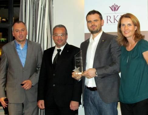 De gauche à droite : Patrice Marty (organisateur du Colloque), Riadh Bouaziz (DG de RKF), Nicolas Decker (propriétaire de La Cheneaudière), Isabelle Boutteville (Directrice Associée Excel Place) - Photo DR