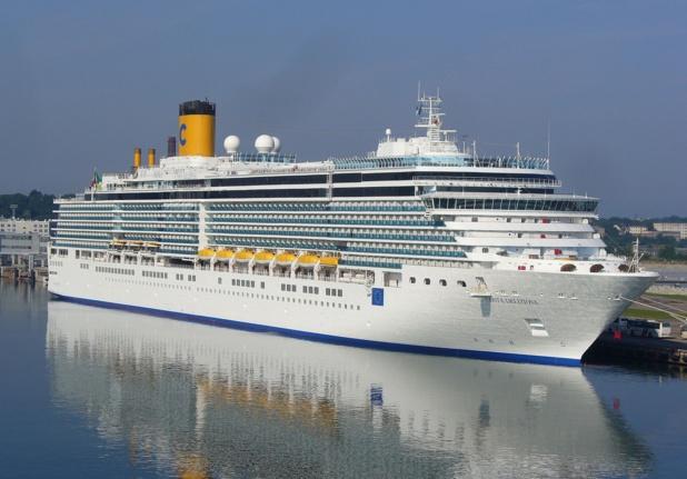 """""""une croisière d'une semaine conçue pour faire escale en toute sécurité dans les ports italiens de Bari, Brindisi, Corigliano-Rossano, Siracusa et Catane..."""" crédit Wikipedia"""