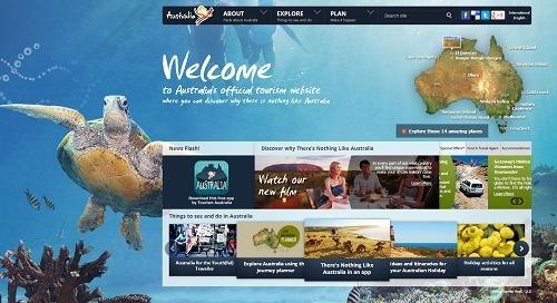 Sur les réseaux sociaux, Tourism Australia espère générer du trafic pour le site officiel de la destination Australie - Capture d'écran