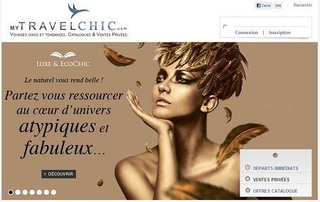 MyTravelChic.com commercialise des séjours haut de gamme en vente privée - Capture d'écran