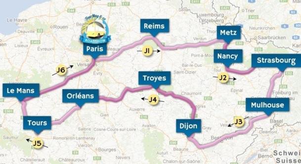 L'itinéraire du premier TourMaG&CO Road Show