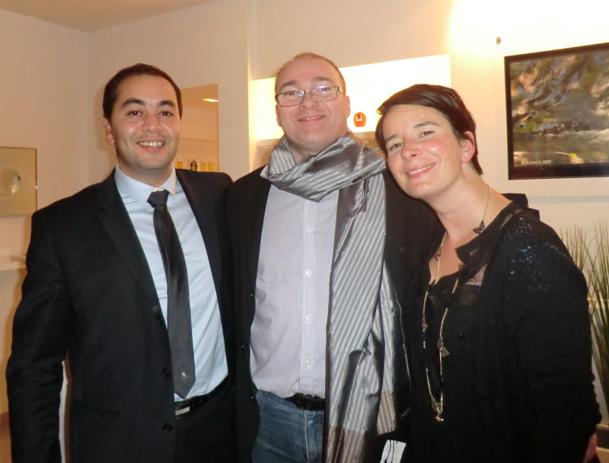 Farid Guerouaz, Jean-François Dewevre et Pascaline Foureau - DR
