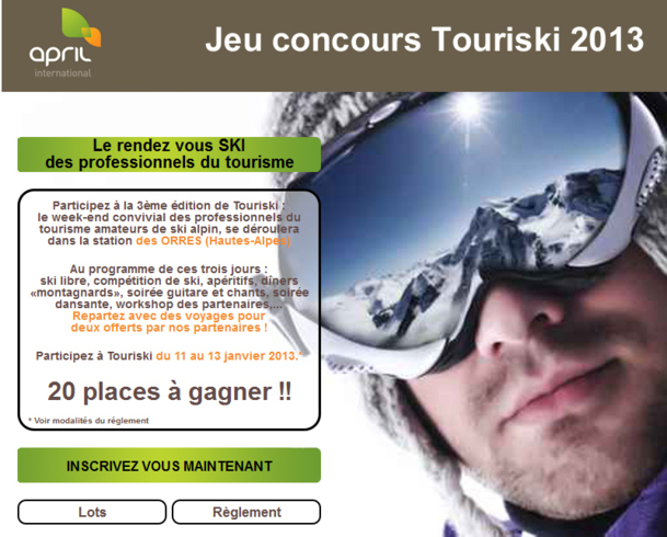 Le jeu concours Tourski se déroule jusqu'au 19 décembre 2011 - DR