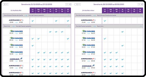 Resaneo lance un calendrier des vols directs