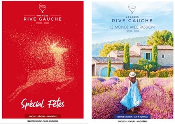 Les deux nouvelles brochures de Voyages Rive Gauche
