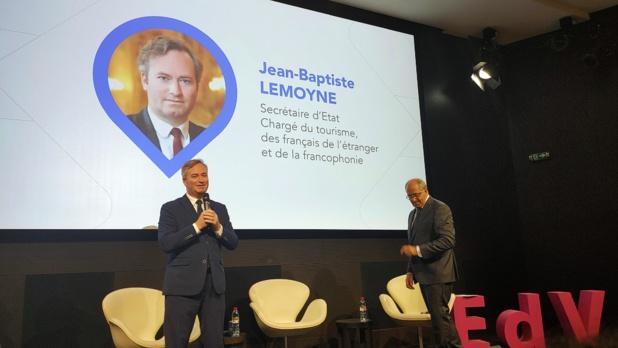 Jean-Baptiste Lemoyne et Jean-Pierre Mas, le 15 septembre 2020 à Paris © PG TM