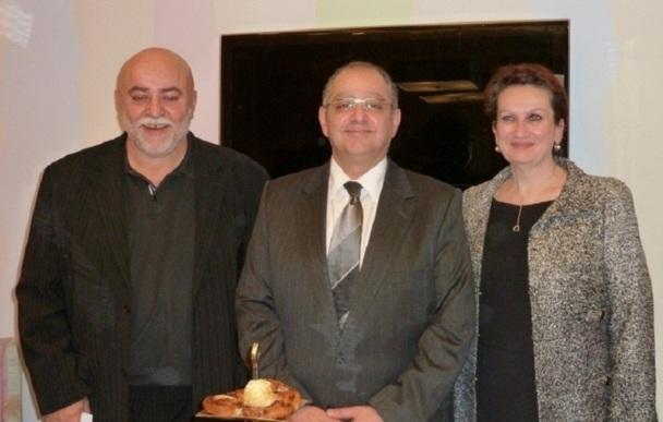 De gauche à droite, Dominique Hallier directeur des ventes France (il était en charge des ventes pour les régions ouest et sud-ouest), Baher Ghabbour, directeur gérant de STI et Agathe Roussey directrice de Production - Photo M.S.