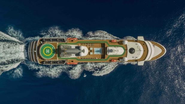 Le yacht World Explorer qui sera positionné sur des croisières maritimes dans le Grand Nord - DR
