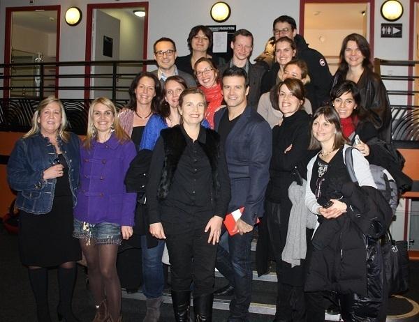 Les chefs de produits ont pu rencontrer Roch Voisine après le concert - Photo DR