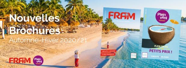 Hiver 2020/2021 : les brochures FRAM et Plein Vent arrivent dans les agences