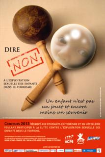 Le visuel du Concours Dire Non a été réalisé par Caroline SEILER du Lycée Hôtelier de Marseille Bonneveine, gagnante de l'appel à projet 2012. - DR