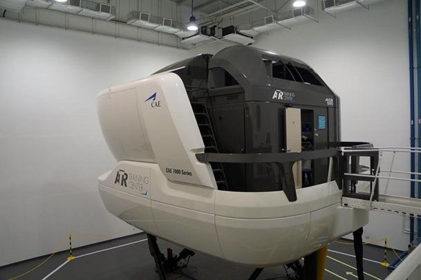 Le simulateur de type FFS (Full Flight Simulator) - DR : ATR