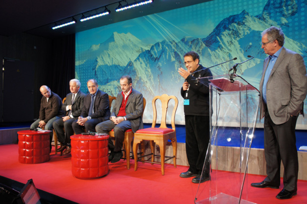 Christian Sabbagh (Orchestra), François-Xavier de Boüard, Jean-Pierre Mas (AS Voyages), Lionel Guérin (Air France) , Marcel Levy et René-Marc Chikli (CETO) - Photo CE