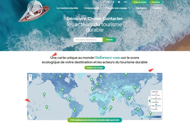 La start-up utilise les données satellites pour calculer le score environnemental d'une zone géographique - Capture écran