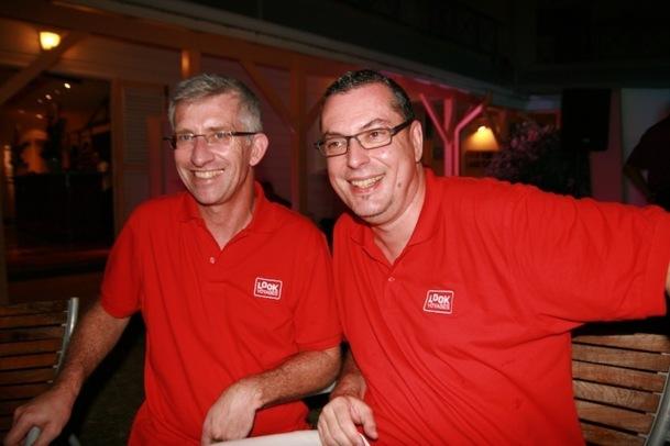 Marc Desnos, le directeur transport et revenu management accompagné par Michel Quenot, le directeur du tour opérating chez Look Voyages. DR-LAC