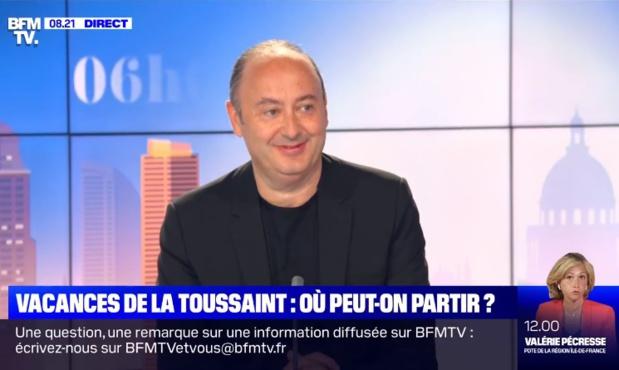 Laurent Abitbol sur le plateau de BFMTV dimanche 11 octobre 2020 - DR