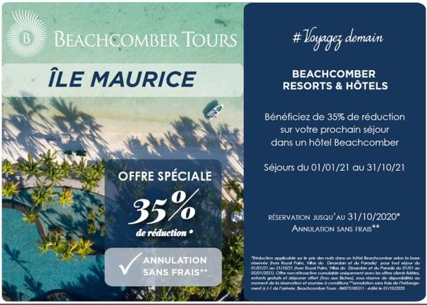 Beachcomber : offre spéciale sur l'Ile Maurice