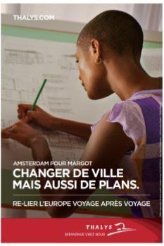 Un des visuels de la campagne de Thalys - DR