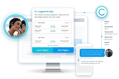 En plus du chat en direct via l'application Amex GBT Mobile et l'Apple Business Chat, les voyageurs pourront lancer des demandes de service automatisées depuis le service de messagerie de leur choix. - DR