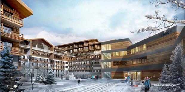 Ce resort premium doté de 395 chambres (Supérieures et Deluxes) sera ouvert hiver comme été - DR : Club Med