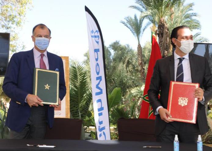Henri Giscard d'Estaing, Président du Club Med et Mamoun Lahlimi Alami, Administrateur Directeur Général de Madaëf - Photo Club Med