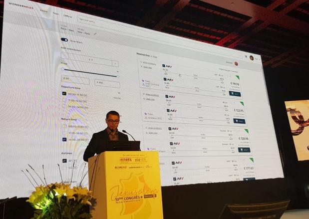 Présentation en séance plénière de l'outil Wonder Booking lors du congrès de Jerusalem  - Photo CE