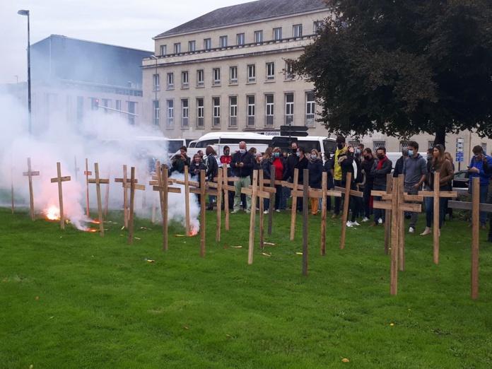 Le 12 octobre dernier, le GATF menait sa première opération coup de poing, à Caen, avec d'autres professionnels du tourisme, de l'événementiel, les traiteurs et les loueurs de matériels d'événements - DR : L.B.