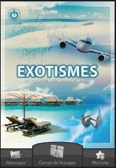 Les clients d'Exotismes reçoivent un code et un login pour télécharger gratuitement l'application qui se désactive automatiquement au retour du voyage - DR