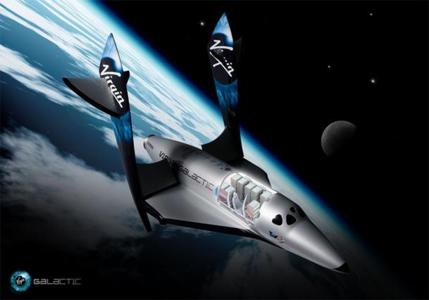 On estime qu'actuellement les activités liées au tourisme spatial terrestre génèrent déjà plus du milliard de dollars par an. Alors en 2020, 2030....! - DR : Virgin Galactic