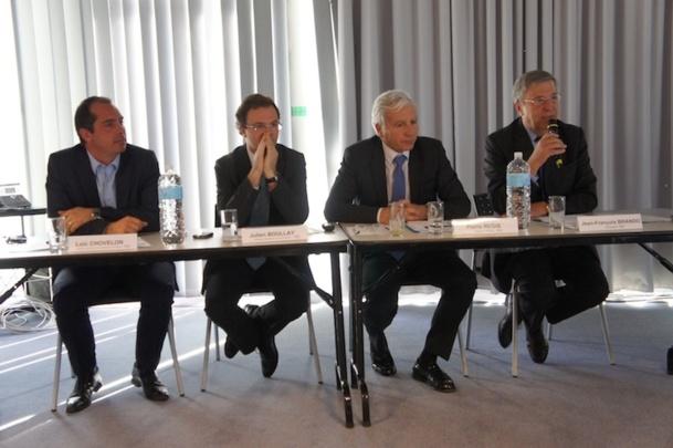 Les responsables de la plate-forme avaient le sourire à l'occasion de la conférence de presse organisée mardi 8 octobre 2012 pour présenter le bilan 2012. - CE
