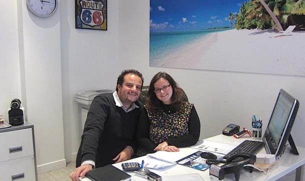 Jessica Cohen a décidé de monter sa propre affaire. Accompagnée par son mari, elle vient d'ouvrir son agence Jess Voyages dans le quartier de Reuilly-Diderot, derrière la gare de Lyon à Paris - DR : LAC