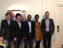 Gilles Delaruelle (2e à gauche) est le fondateur de DoYourTravel.com