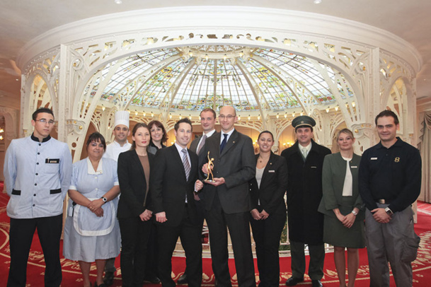 "L'Hôtel Hermitage de la SBM a décroché l'""Event Hotel of the year"", lors des Eventia Awards 2012 - DR"