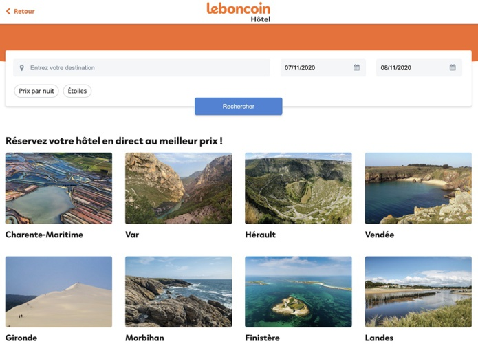 Leboncoin souhaite clairement concurrence Booking.com, mais aussi devenir un incontournable du voyage en France - Crédit photo : Depositphotos @OceanProd