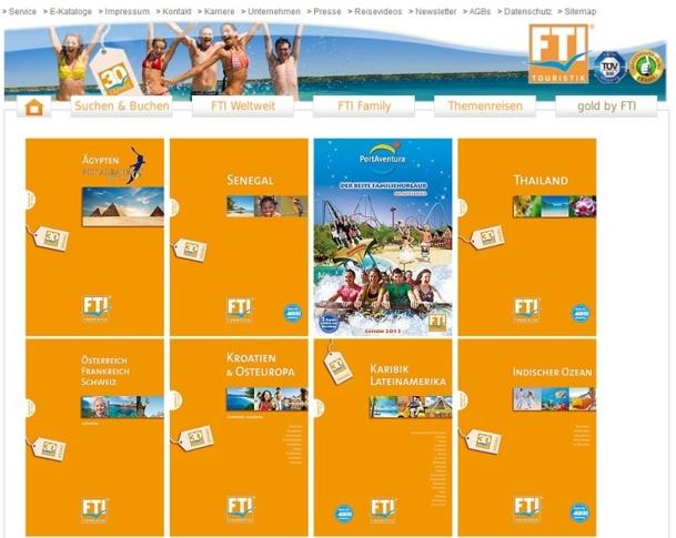 FTI publie 3 catalogues en France pour sa production été 2013 - Capture d'écran
