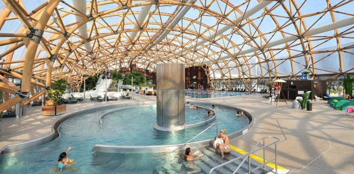 Le pôle loisirs regroupe 6 pôles de sports et loisirs dédiés à des activités aquatiques, fitness, escalade, raquettes, bien-être et détente - DR : VITAM