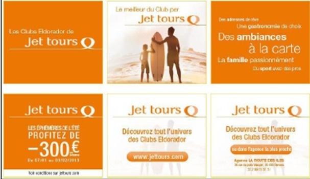 La campagne online de Jet tours est relayée sur une sélection de sites Internet - DR