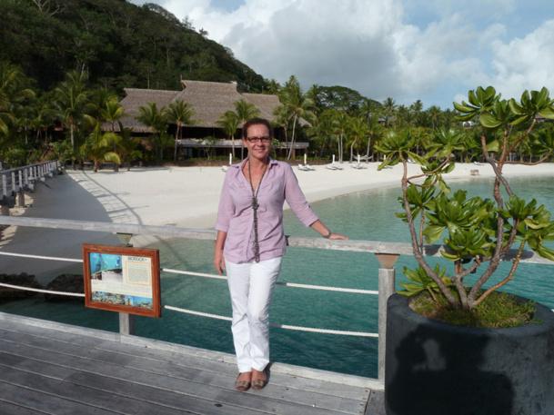 Voici 3 ans Karine Peyras fut engagée comme directrice adjointe au Hilton de Bora Bora. Elle en est la directrice générale depuis septembre 2012 - Photo M.S.