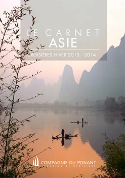 La nouvelle brochure de la Compagnie du Ponant dédiée à l'Asie - DR