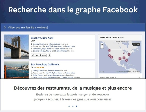 """L'entreprise de Mark Zuckerberg a en effet annoncé le lancement de son moteur de recherche interne baptisé """"Graph Search"""". - DR"""