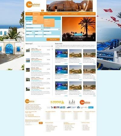 """Maquette du site de Sunshine Vacances qui sera en ligne d'ici """"quelques semaines"""", selon le TO - DR"""